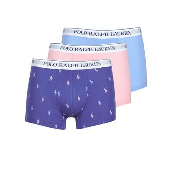 Sous-vêtements Homme Boxers Polo Ralph Lauren CLASSIC TRUNK X3 Rose / Bleu / Marine