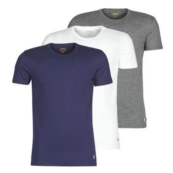 Vêtements Homme T-shirts manches courtes Polo Ralph Lauren SS CREW NECK X3 Marine / Gris / Blanc