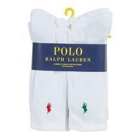 Sous-vêtements Homme Chaussettes de sport Polo Ralph Lauren ASX110 6 PACK COTTON Blanc