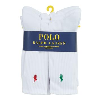 Accessoires Homme Chaussettes Polo Ralph Lauren ASX110 6 PACK COTTON Blanc