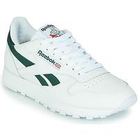 Chaussures Baskets basses Reebok Classic CL LTHR Blanc / Vert