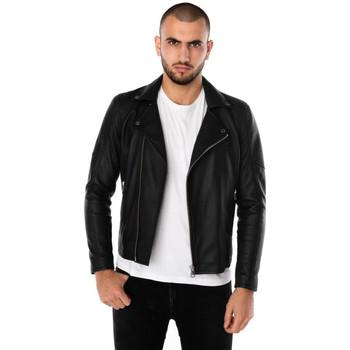 Vêtements Homme Vestes en cuir / synthétiques Cityzen MILANO BLACK Noir