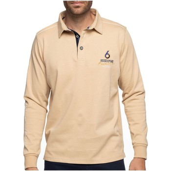 Vêtements Homme Polos manches longues Shilton Polo rugby 6 nations manches longues Beige