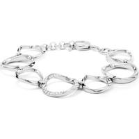 Montres & Bijoux Femme Bracelets Fossil Bracelet  Twist acier blanc empierré Blanc