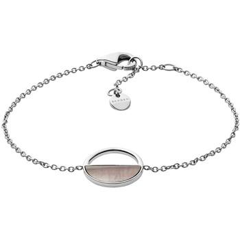 Montres & Bijoux Femme Bracelets Skagen Bracelet  nacre noire Blanc