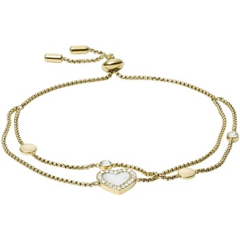 Montres & Bijoux Femme Bracelets Fossil Bracelet  Elegant Heart Jaune