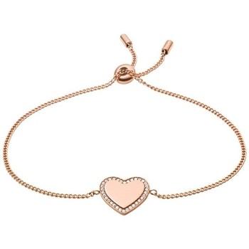 Montres & Bijoux Femme Bracelets Fossil Bracelet  Je t'aime doré rose Rose