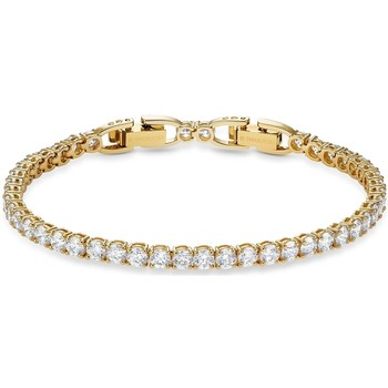 Montres & Bijoux Femme Bracelets Swarovski Bracelet  Tennis Deluxe Doré Jaune