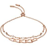Montres & Bijoux Femme Bracelets Fossil Bracelet  multi-rangs à maillons vintage Rose