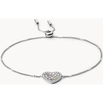Montres & Bijoux Femme Bracelets Fossil Bracelet  Coeur Nacre Blanc