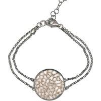 Montres & Bijoux Femme Bracelets Brillaxis Bracelet Orus nid d'abeille collection Tattoo Noir