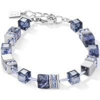 Montres & Bijoux Femme Bracelets Coeur De Lion Bracelet  Géocube sodalite et hématite bleu Blanc