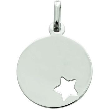 Montres & Bijoux Femme Pendentifs Brillaxis Pendentif médaille  étoile ajourée Blanc