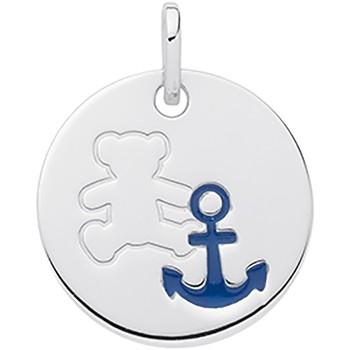 Montres & Bijoux Femme Pendentifs LuluCastagnette Pendentif Lulucastagnette médaille ours ancre marine Blanc