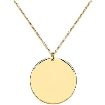 Montres & Bijoux Femme Pendentifs Emma & Chloé Médaille Emma et Chloé métal argenté ronde 30 mm Blanc