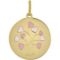 Montres & Bijoux Femme Pendentifs Brillaxis Pendentif  arbre de vie laque coeur Jaune