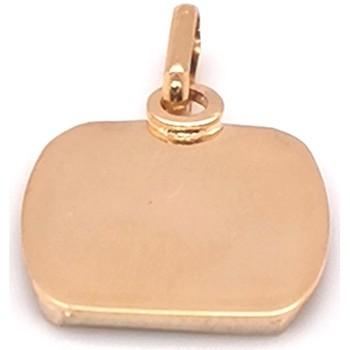 Montres & Bijoux Femme Pendentifs Brillaxis Plaque  tonneau or jaune 18 carats Jaune