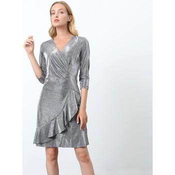 Vêtements Femme Robes courtes Smart & Joy Argent Argent