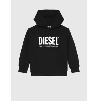 Vêtements Enfant Sweats Diesel SDIVISION LOGOX OVER Noir