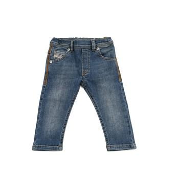 Vêtements Garçon Jeans slim Diesel KROOLEY Bleu