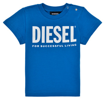 Vêtements Garçon T-shirts manches courtes Diesel TJUSTLOGOB Bleu