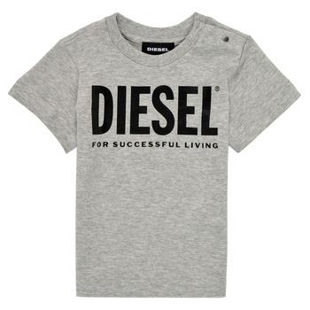Vêtements Enfant T-shirts manches courtes Diesel TJUSTLOGOB Gris