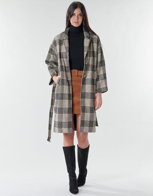 Vêtements Femme Manteaux Betty London NIOULOOK Noir / Beige