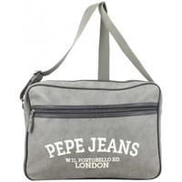 Sacs Enfant Cartables Pepe jeans Reporter bandoulière effet peau de pêche  Gris Multicolor