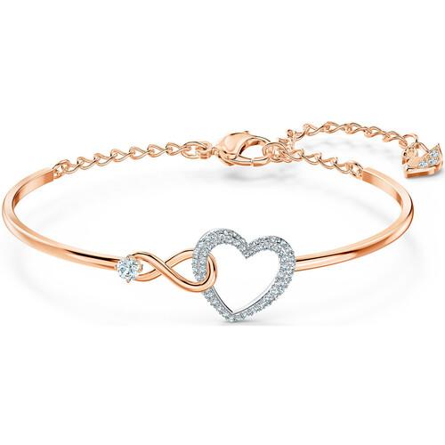 Swarovski Bracelet jonc Infinity Heart Rose - Montres & Bijoux ...
