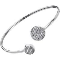Montres & Bijoux Femme Bracelets Lotus Jonc  acier ouvert pavage Blanc