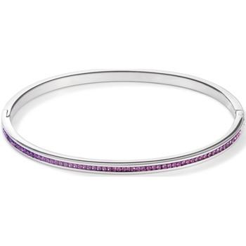 Bracelets Jonc acier strass violet - Coeur De Lion - Modalova