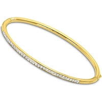 Montres & Bijoux Femme Bracelets Lotus Jonc  acier doré Jaune