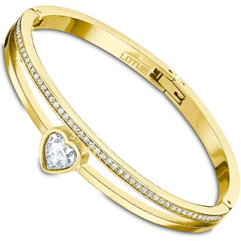 Montres & Bijoux Femme Bracelets Lotus Jonc  coeur en acier doré Jaune