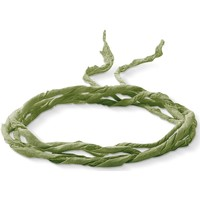 Montres & Bijoux Femme Colliers / Sautoirs Thomas Sabo Lien en soie  vert Vert