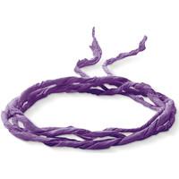 Montres & Bijoux Femme Colliers / Sautoirs Thomas Sabo Lien en soie  violet Violet
