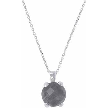 Montres & Bijoux Femme Colliers / Sautoirs 950 Milano Collier  argent quartz gris collection tortona Blanc