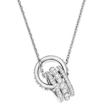 Montres & Bijoux Femme Colliers / Sautoirs Swarovski Pendentif  Further Double Blanc