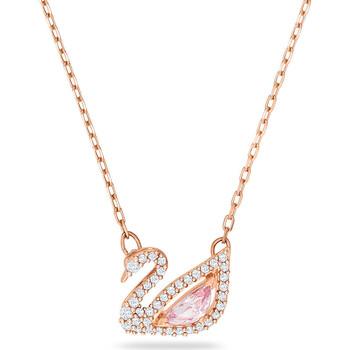 Montres & Bijoux Femme Colliers / Sautoirs Swarovski Collier  Swan Dazzling rosé Rose