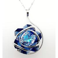Montres & Bijoux Femme Colliers / Sautoirs Andrea Marazzini Collier Marazzini Flower new blue Blanc