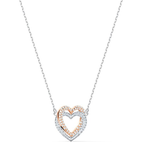 Montres & Bijoux Femme Colliers / Sautoirs Swarovski Collier  Infinity Double Heart Multicolore