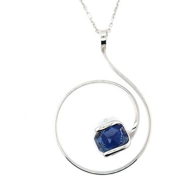 Montres & Bijoux Femme Colliers / Sautoirs Andrea Marazzini Collier  octagon dark blue Blanc