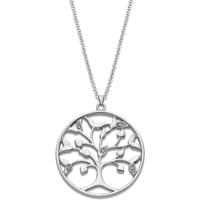 Montres & Bijoux Femme Colliers / Sautoirs Lotus Collier  Collection Rainbow Arbre de vie Blanc