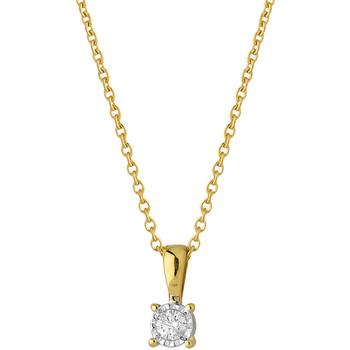 Montres & Bijoux Femme Colliers / Sautoirs Brillaxis Collier  solitaire diamant Jaune