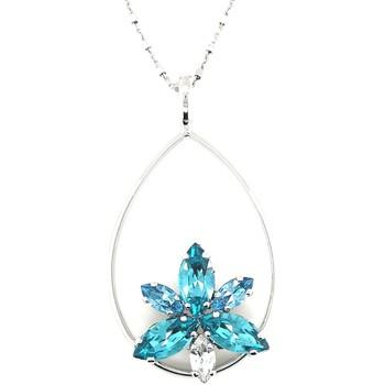 Montres & Bijoux Femme Colliers / Sautoirs Andrea Marazzini Collier Andréa Marazzini Eve bleu Blanc