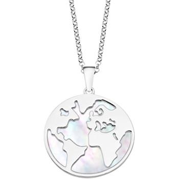 Montres & Bijoux Femme Colliers / Sautoirs Lotus Collier  Silver la terre nacre blanche Blanc