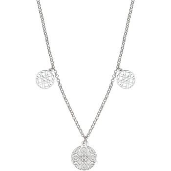Montres & Bijoux Femme Colliers / Sautoirs Go Mademoiselle Collier  pampilles argent Blanc