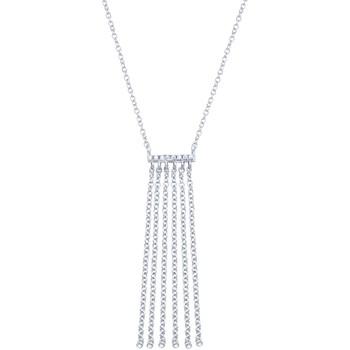 Montres & Bijoux Femme Colliers / Sautoirs Go Mademoiselle Collier  chaînettes argent Blanc