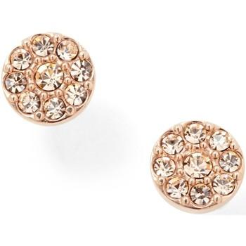 Montres & Bijoux Femme Boucles d'oreilles Fossil Boucles d'oreilles  acier rose empierré Rose