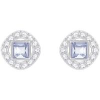 Montres & Bijoux Femme Boucles d'oreilles Swarovski Boucles d'oreilles  Angelic Square bleues Blanc