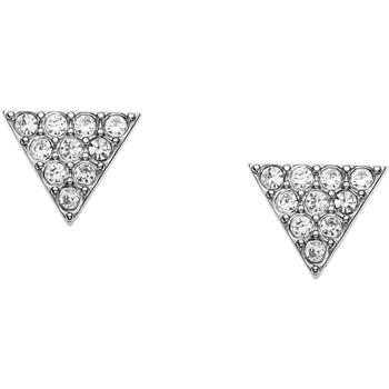 Montres & Bijoux Femme Boucles d'oreilles Fossil Boucles d'oreilles  triangle acier empierré Blanc